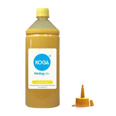 Compatível: Tinta para Epson L375 Ecotank Sublimática Yellow 1 Litro Koga