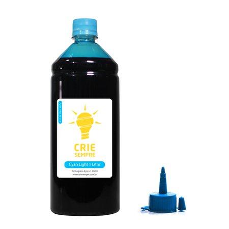 Compatível: Tinta para Epson L800 Premium Crie Sempre Cyan Light 1 Litro Corante