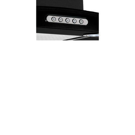 Coifa Parede Vidro Curvo Slim Black 4 á 6 Bocas 80cm - Nardelli 220V