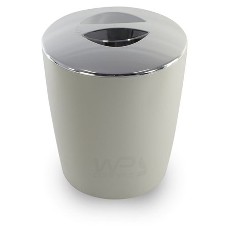 Lixeira Cromo Vitra Cozinha Banheiro 5L Bege