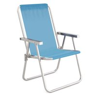 Cadeira Alta Conforto Alumínio Sannet - Azul