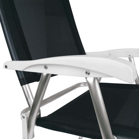 Cadeira Master Plus Alumínio Preta