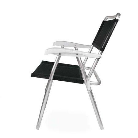 Cadeira Master Alumínio Tela Sannet Preta