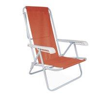 Cadeira Reclinável Aço 8 Posições Coral