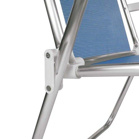 Cadeira Alta Alumínio Azul