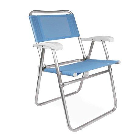 Cadeira Master Alumínio Fashion - Azul