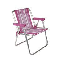 Cadeira Infantil Alta Alumínio Rosa