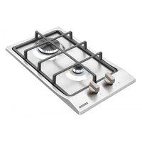 Cooktop a Gás Tramontina Domino 2 Queimadores Safestop 30cm Inox Bivolt 94700/214