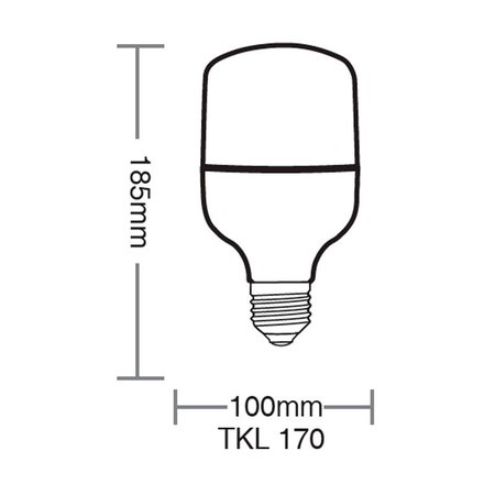 Lâmpada Led Taschibra TKL 170 30W Bivolt E27 6500K - Luz Branca