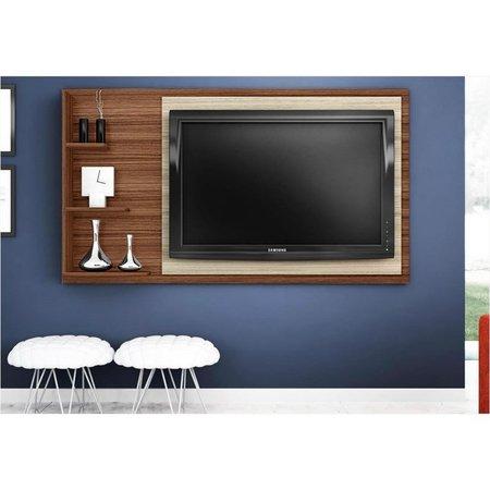 Painel para TV LED Honduras Amêndoa com Rovere - Poliman