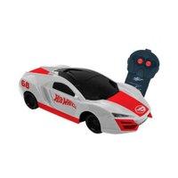 Carro Controle Remoto Speed Team Hot Wheels Branco - Candide