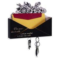 Porta Chaves Dona Do Castelo Organizador de Cartas Decorativo