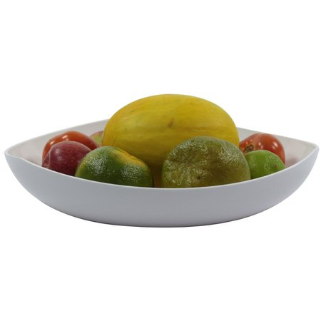 Fruteira Legumeira De Mesa 3,5L - Trio Colors Branco