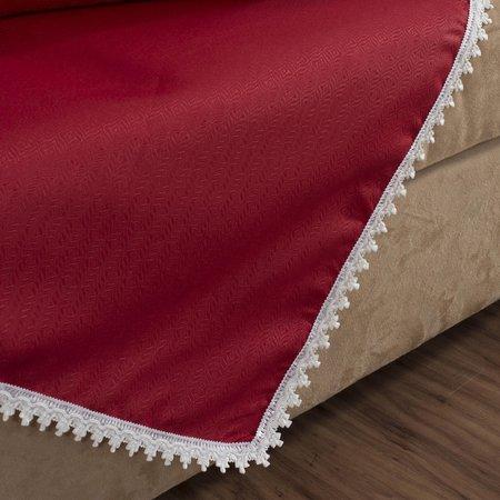 Kit Sala 6 Peças com Cortina, Xale e Almofadas Istambul - Vermelho