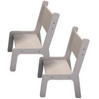 Kit 02 Cadeiras Estudo Infantil Kids Branco - Lyam Decor