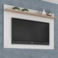Painel Para Tv Até 40 Polegadas Benevello 2034 Branco/siena - Quiditá Móveis