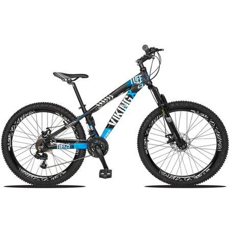 Bicicleta Aro 26 Quadro 13 Freio Disco Vmaxx Freeride Tuff 21v Alumínio Preto Azul - Viking