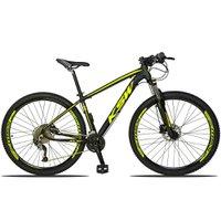 Bicicleta XLT 2.0 Aro 29 Quadro 21 Freio Disco Hidráulico Alumínio 27v Preto Amarelo - KSW