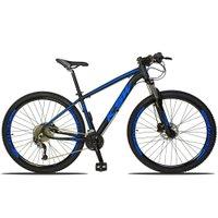 Bicicleta XLT 2.0 Aro 29 Quadro 17 Freio Disco Hidráulico Alumínio 27v Preto Azul - KSW