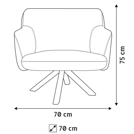 Kit 02 Poltronas Decorativas Para Sala de Estar Jade Corano C-05 - Lyam Decor