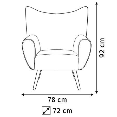 Kit 02 Poltronas Decorativas Para Sala de Estar Kora Pés Palito Tressê Veludo Liso B-303 - Lyam Decor