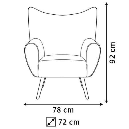 Kit 02 Poltronas Decorativas Para Sala de Estar Kora Pés Palito Tressê Veludo Liso B-170 - Lyam Decor