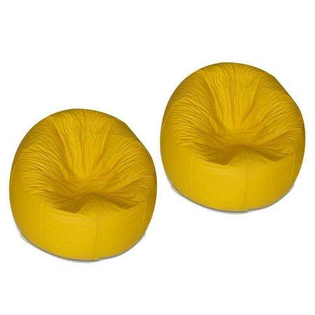 kit 2 Puffs Redondo Pop Amarelo - Stay Puff