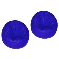 kit 2 Puffs Redondo Pop Azul Royal - Stay Puff
