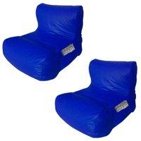 Kit 2 Puffs Relax Nobre Azul Royal - Stay Puff