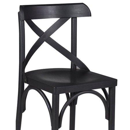 Kit 2 Cadeiras Decorativas Crift Preto - Gran Belo