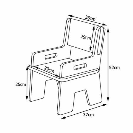 Kit 09 Cadeiras Infantil Ternura de Encaixe Madeira Crua - Oficina Pelegrino