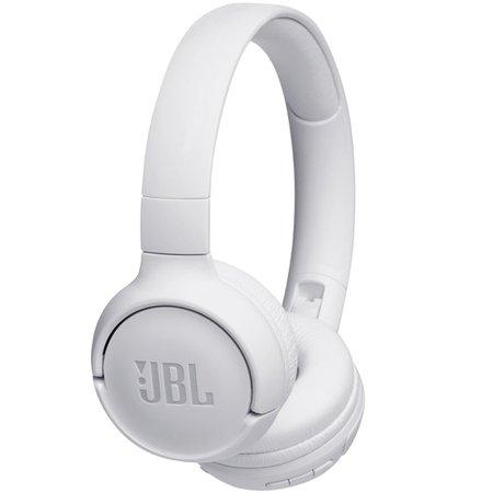 Fone de ouvido On-Ear sem fio Bluetooth JBL TUNE 500BT Pure Bass 16h Bateria Branco