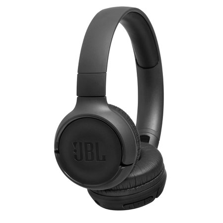 Fone de ouvido On-Ear sem fio Bluetooth JBL TUNE 500BT Pure Bass 16h Bateria Preto