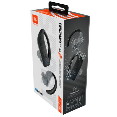 Fone de ouvido Esportivo JBL Endurance Peak Wireless Waterproof IPX7 Bluetooth Preto