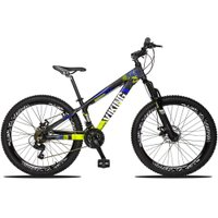 Bicicleta Aro 26 Quadro 13 Freio Disco Vmaxx Freeride Tuff 21v Alumínio Preto Amarelo - Viking