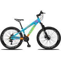 Bicicleta Aro 26 Quadro 13 Freio Disco Vmaxx Freeride Tuff 21v Alumínio Azul Laranja - Viking