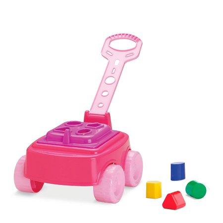 Carrinho Mipuxa Baby Land Rosa - Cardoso Toys