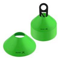 Half Cone de Marcação de Plástico - Kit com 24 - Verde - Muvin
