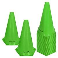 Cone de Marcação de Plástico Flexível - 24cm - Kit com 24 - Verde - Muvin