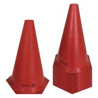 Cone de Marcação de Plástico Flexível - 24cm - Kit com 12 - Vermelho - Muvin