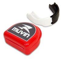 Protetor Bucal Dual Color Muvin PTB-200 - Branco/Preto