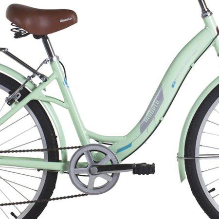 Bicicleta Vintage Retrô Hit Aro 26 7V Shimano Verde Mobele com cesta de Vime