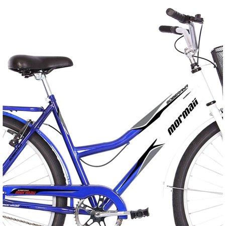 Bicicleta Aro 26 Q19,5 Freio FF com Cesta Soberana Mormaii - Azul e Branco