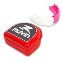 Protetor Bucal Dual Color Muvin PTB-200 - Branco/Rosa