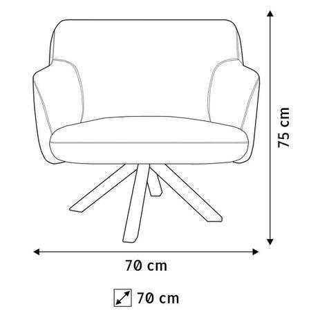 Poltrona Decorativa Para Sala de Estar Jade Veludo Liso B-170 - Lyam Decor