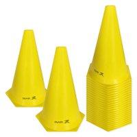 Cone de Marcação de Plástico Flexível - 24cm - Kit com 24 - Amarelo - Muvin