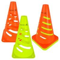 Cone de Marcação Flexível Elite - 24cm - Kit com 6 - Amarelo/Laranja - Muvin