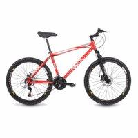 Bicicleta Mazza Bikes Fire - Aro 26 Disco - Shimano 24 Marchas - 21 - Vermelho