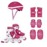 Kit Roller Rosa Tamanho P 30-33 (Roller, Joelheira e Capacete)