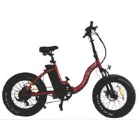Bicicleta Elétrica Dobrável Aro 20 Fat Bike Rimini - Vermelha